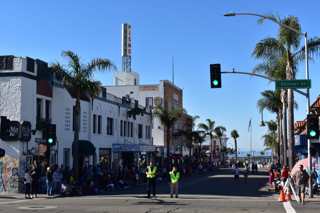 View down Pomeroy Avenue 2018 Pismo Beach Clam Festival