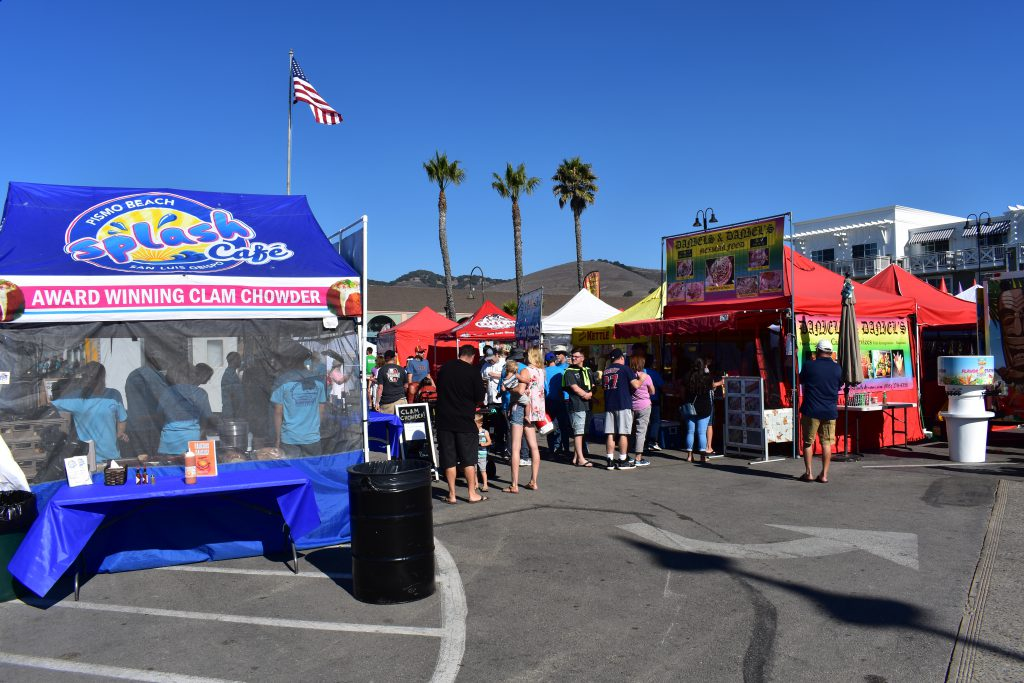 Splash Cafe Booth at 2018 Pismo Beach Clam Festival
