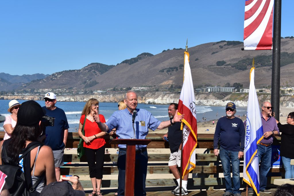 Pismo Beach Mayor Ed Waage Grand Reopening of the Pismo Beach Pier 2018